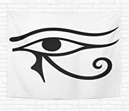 Assp Tapestry The Ancient Symbol Eye of Horus Egyptian Moon Sign 60x80 Inches Home Decorative Wall Hanging Tapestries for Living Room Bedroom Dorm