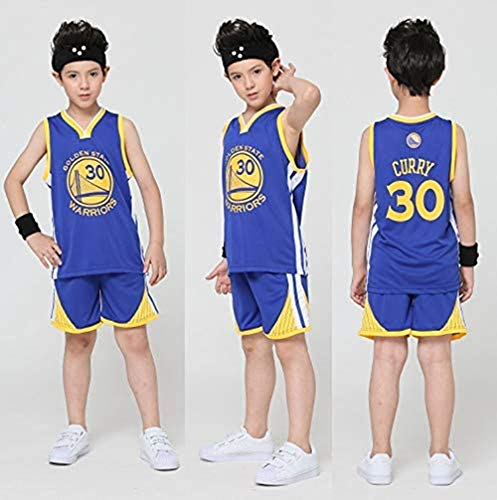 Maglie da Basket per Uomo Bambini - NBA Jersey Bulls Jordan 23, Lakers 23 James / 24 Bryant, Warriors 30 Curry / 35 Durant Completi Abbigliamento da Basket: Estate Top+Pantaloncini Sportivo