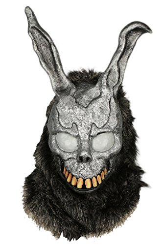 Xcoser Donnie Darko Bunny Mask Deluxe Frank Helmet with Fur Cosplay Grey