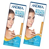 Andrea Gentle Cream Bleach for Unwanted Facial Hair, 2 packs