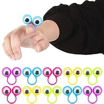 3 otters Eyeball Ring 25PCS Eye Finger Puppets Eye Monster Finger Easter Basket Stuffers Egg Fillers Gifts Party Favors