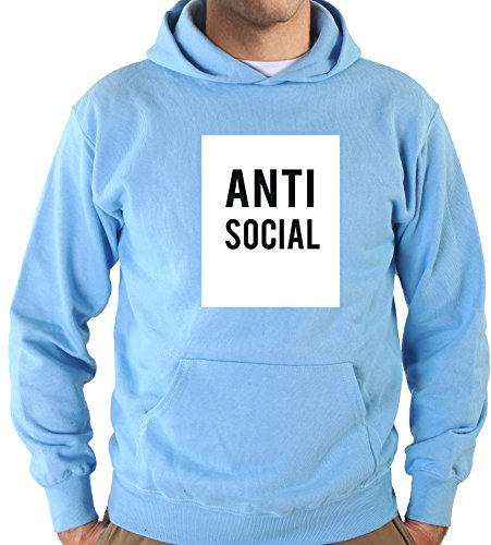 Settantallora - Felpa con Cappuccio KJ2054 Anti Social Taglia L