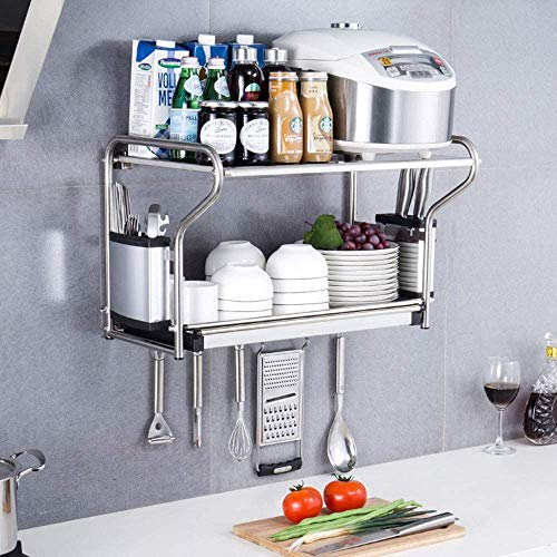 DALUXE Kitchen Shelf 304 Stainless Steel, Microwave Oven, Wall Mounting, Draining