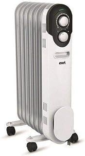 EWT COCOON15 Interior Negro, Color blanco 1500W Calentador eléctrico de aceite - Calefactor (Calentador eléctrico de aceite, Interior, Piso, Negro, Color blanco, Giratorio, 1500 W)