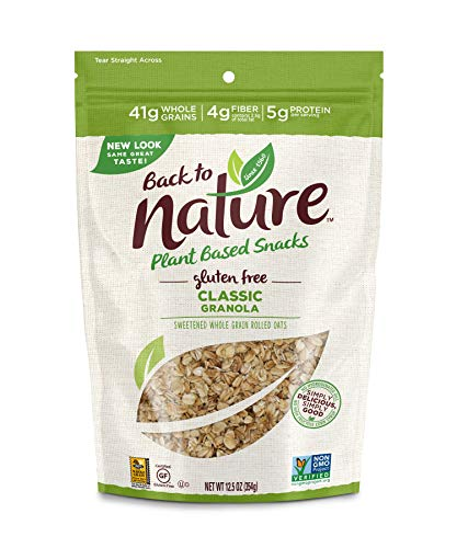 Back to Nature Gluten Free Granola, Non-GMO Classic, 12.5 Ounce (Pack of 6)