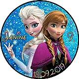 Tortenaufleger Fototorte Tortenbild Kindergeburtstag Frozen Elsa Anna Eiskönigin F02 Rund 20 cm Ø