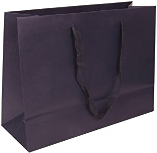 JAM PAPER Heavy Duty Matte Horizontal Gift Bags - XL - 17 x 13 x 6 - Navy Blue Recycled - Sold Individually