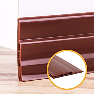 Door Draft Stopper Weather Stripping for Doors, Self Adhesive Door Bottom Seal Strip, Door Sweep, 2
