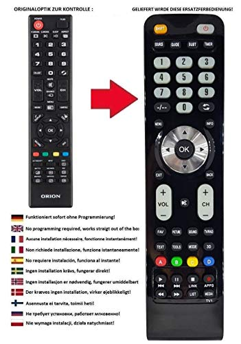 Ersatz Fernbedienung passend für Orion TV CLB40B950S | CLB40B960S | CLB40B900 | CLB40B910 | CLB40B911 | CLB39B920 | CLB39B980S | CLB40B900
