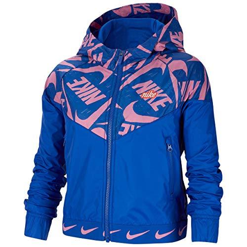Nike Mädchen CJ7426-433 Jacke, Hyper Blue/Magic Flamingo, M Regular