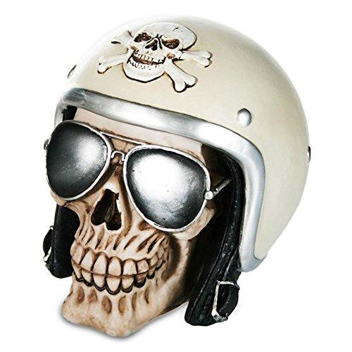 Spardose Spar Dose Totenkopf Totenschädel Skull Biker Motorradhelm Sonnenbrille 16 x 12 cm
