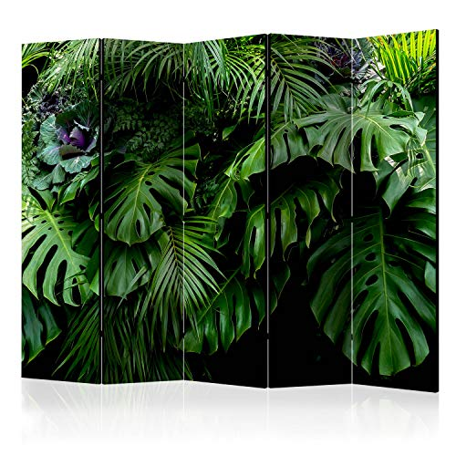 murando Raumteiler Foto Paravent Tropisch 225x172 cm beidseitig auf Vlies-Leinwand Bedruckt Trennwand Spanische Wand Sichtschutz Raumtrenner Home Office Monstera b-B-0331-z-c