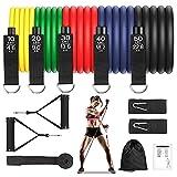 Bandas Elasticas Resistencia Fitness, Bandas Elasticas Musculacion 12 PCS -...