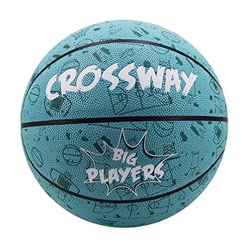 Fucsiaan Crossway - Set da basket con buona rimbalzo, anti-abrasione, ermetica, taglia ufficiale, da allenamento per adulti e bambini, colore: verde lago