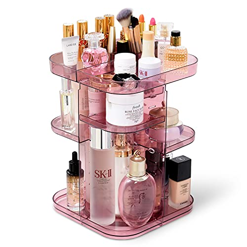 360 度旋转大容量化妆品收纳盒架