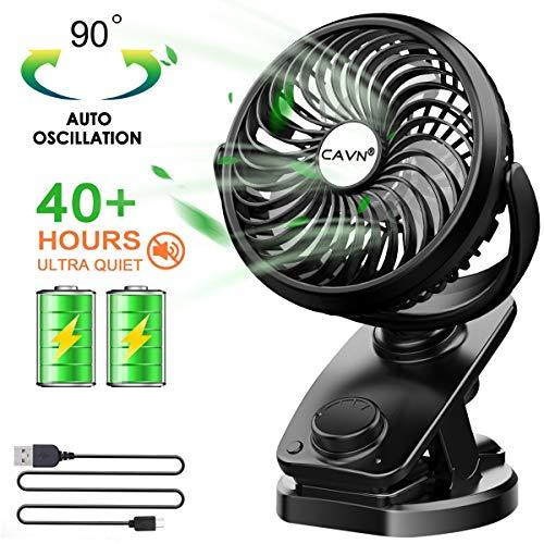 Vegena leiser Tischventilator mit Wiederaufladbare Batterie Leise 360 Drehbare Fan Einstellbare 3 Geschwindigkeiten USB L/üfter f/ür Indoor und Outdoor Aktivit/äten Mini Clip Ventilator