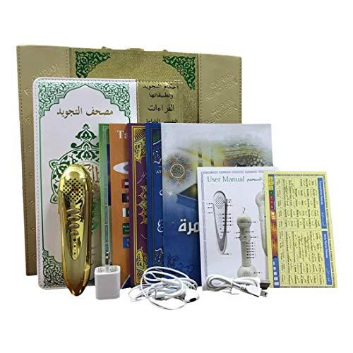 Timagebreze Lector de Pluma de Lectura del CoráN, Reproductor de Lectura del CoráN Sagrado IsláMico, Libro de CoráN MusulmáN, Copia Impresa del CoráN, con Libros y Cargador