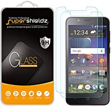 (2 Pack) Supershieldz for ZTE ZFive C LTE and ZFive G LTE (Z557BL Z558VL) Tempered Glass Screen Protector, Anti Scratch, Bubble Free