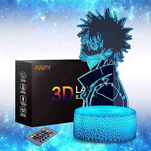 My Hero Academia 3D luz nocturna para niños juguetes, 8 16 6 años de edad, regalo de cumpleaños para niños de 9 años, regalo de niño de 12 11 10 5, figuras de animales luz 3D