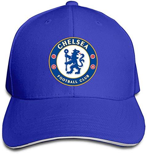 NJAAN Women's Men's Chelsea Football Club Adult Adjustable Peaked Cap,Gray,One Size