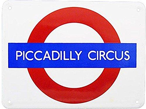 London Underground / TfL metropolitana di Londra Piccadilly Circus Smaltata Piccola in Acciaio Inox (BA)
