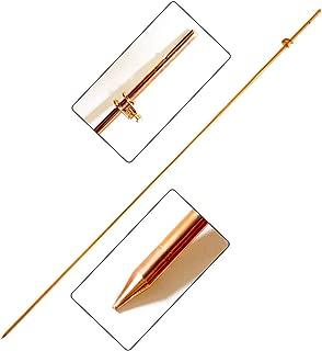 Ground Rod 3/8''x4' Bonded Electrical Fence Grounding Bar for Signal Lightning Strike Electrode Earthing