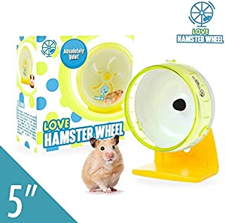 Robo Hamster Wheel 5Inch Pet Quiet Spinner Comfort Exercise Quiet Wheel and Easy Attach to Wire Cage for Small Pets 2 Oz Dwarf Hamsters Gerbils Hedgehogs Mice, Premium PP Material
