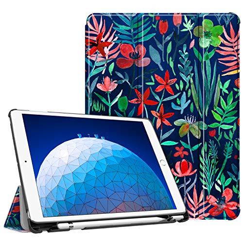 Fintie Case for iPad Air (3rd Gen) 10.5' 2019 / iPad Pro 10.5' 2017 - [SlimShell] Ultra Lightweight Standing Protective Cover with Built-in Pencil Holder, Auto Wake/Sleep (Jungle Night)