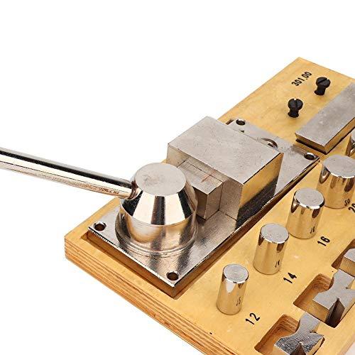 Set di Strumenti Piegatura Dell'anello, Metallo Portatile Multifunzionale Manuale Gioielli Anello Orecchino Macchina Piegatura Anello Bender Maker Creazione Gioielli Strumenti per Riparatore Gioielli
