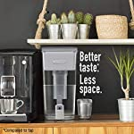 """Brita Standard UltraMax Water Filter Dispenser, Gray, Extra Large 18 Cup, 1 Count 12 The BPA-free UltraMax water dispenser holds 18 cups of water, enough to fill 6 24-ounce reusable water bottles Get great tasting water without the waste; by switching to Brita, you can save money and replace 1,800 single-use plastic water bottles a year This space efficient filtered water dispenser fits perfectly on refrigerator shelves, features an easy locking lid and precision pour spigot; Height 10.47""""; Width 5.67""""; Length/Depth 14.37""""; Weight 3 pounds"""