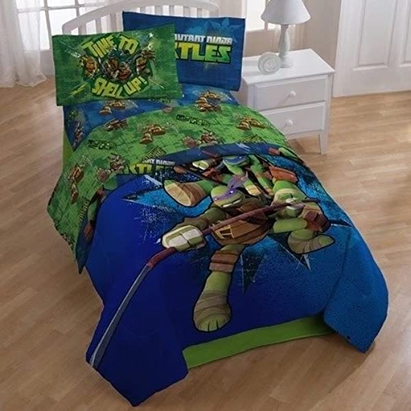 Teenage Mutant Ninja Turtles Full Comforter Sheets 5 Piece Bed In A Bag