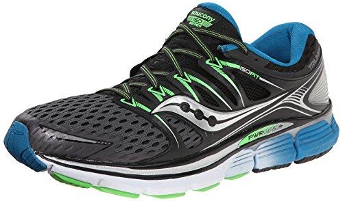 Saucony Men's Triumph ISO Running Shoe, Grey/Black/Slime,11.5 M US