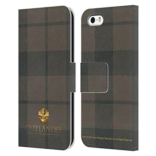 Head Case Designs Ufficiale Outlander Cocknammon Tessuto di Lana Scozzese Cover in Pelle a Portafoglio Compatibile con Apple iPhone 5 / iPhone 5s / iPhone SE 2016