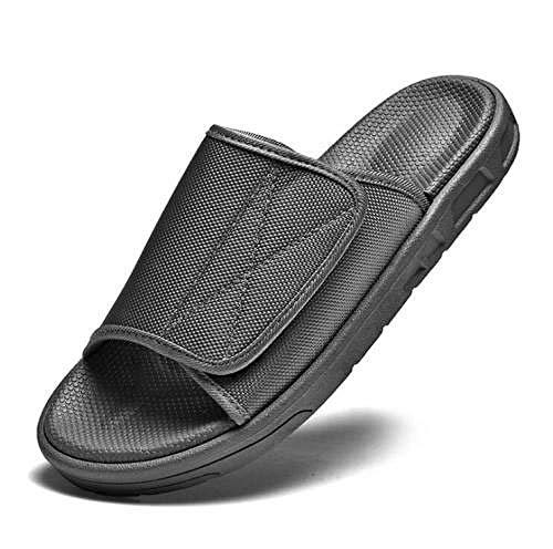 LNLJ - Pantuflas para edema de los pies hinchados, para el pulgar invertido, pantuflas diabéticas para hombres y mujeres, color gris _36
