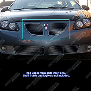 APS Compatible with 2005-2008 Pontiac G6 Black Upper Perimeter Grille Inserts S18-H03159P