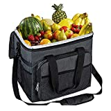 YAPASPT Electric Car Cooler Bag- 25L Portable 12V DC Folding Refrigerator Insulation Collapsible Picnic Basket for Truck Travel
