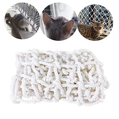 Containernetz Sicherungsnetz Balkonnetze Für Katzen,Befestigung Des Katzenschutznetz Für Balkon Ohne Bohren,Balkonnetz Für Katzen Und Vögel(Multi-Größe,Weiß ) ( Color : 3cm Mesh , Size : 3*3M )