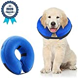 Supet Dog Cones After Surgery, Protective Inflatable Dog Collar Pet Recovery Collar Soft Pet Cone for Small...