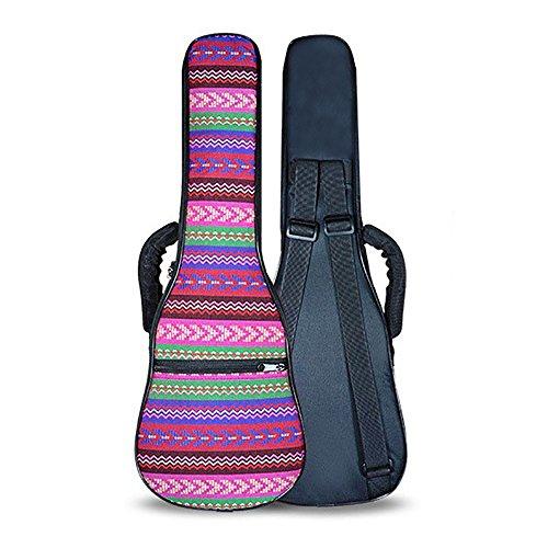 ZEALUX - Tracolla regolabile colorata da 10 mm in spugna, custodia per ukulele e custodia 21 in Boemia - rosso