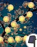 Litogo Farolillos Solares Exterior, 6M 40 LED Guirnalda Exterior Solar, Luces Decorativas Exterior Guirnalda Luces Exteriores Linternas Farolillos Decorativos Solares para Decoración Jardines