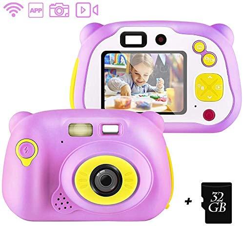 FXDCQC Kinderkamera Digitalkamera HD Digital Kamera für Kinder Robuste Kids Camera 1080p Videokamera 2,0 Zoll Farbdisplay mit 32 GB Speicherkarte und USB Kabel