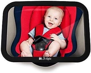 MyHappyRide Rücksitzspiegel fürs Baby, Bruchsicherer Auto-Rückspiegel für Babyschale, Autositz-Spiegel ohne Einzelteile, für Kinder in Kinderschale, Kindersitz