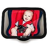 Miroir siège arrière de bébé - Rétroviseur incassable de voiture pour voir enfant/bébé sur de siège bébé, Miroir de sécurité, Installation facile, Anti-oscillation, ajustement universel