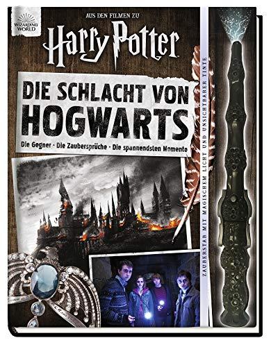 Aus den Filmen zu Harry Potter: Die Schlacht von Hogwarts: Die Gegner - Die Zaubersprüche - Die spannendsten Momente: Buch mit Elderstab (Zauberstab mit magischem Licht und unsichtbarer Tinte)