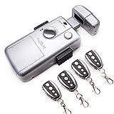 kenrod serratura intelligente invisibile serratura 4 controlli serratura anti bumping serratura elettrica telecomando serratura sicurezza serratura porta interna colore argento