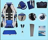 SJNSJN Barca Hinchable Barco De Pesca con Paleta De AleacióN De Aluminio Remos Asiento De Pesca FáCil De Inflar Y Desinflar Balsa Hinchable para Rafting Hydro Force Raft