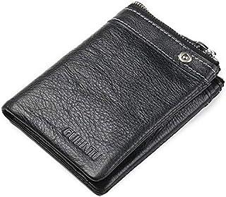 Gubintu Black Leather For Men - Trifold Wallets