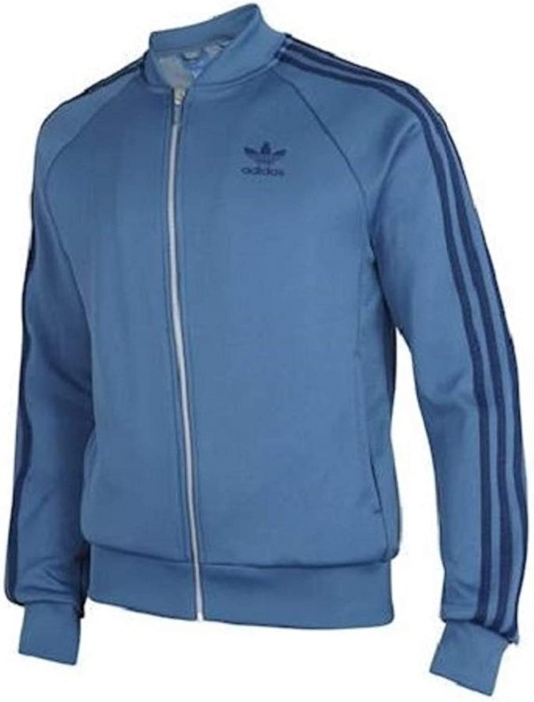 Adidas bluee SST MESH Mens Tract Top Zip Cardigan BQ7766 (XL)