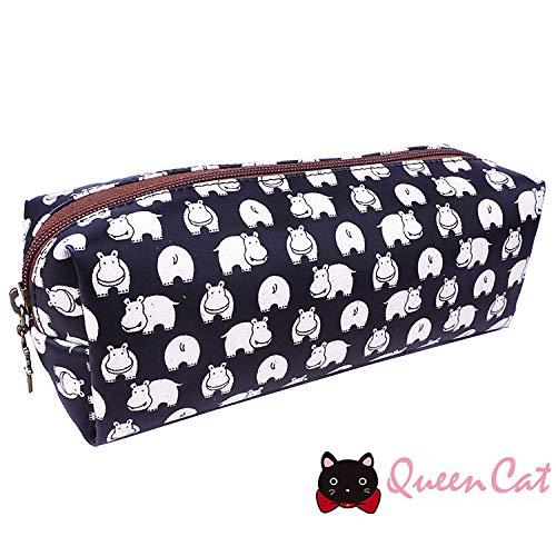 Trousse Rectangulaire (7x21x7cm) imperméable Queen & Cat/Hippo