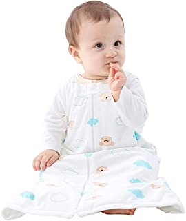 MICHLEY Unisex Baby Sleeping Bag Sack Soft Wearable Swaddle Blanket Spring Winter Sleeveless Sleeper Gowns, 2-3T, White